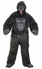 Gorilla Monkey Suit Adults Black Deluxe Costume Halloween Funworld Plus Size