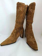 Roper Footwear Brown Suede Cowboy Style Heel Boots Size 9