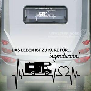 Herzschlag Wohnmobil Leben Spruch 50cm - B59a Autoaufkleber Klassik Retro Urlaub
