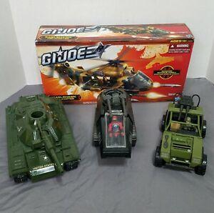 Modern GI JOE Vehicle Lot: Eagle Hawk, MOBAT, Hiss Tank, And VAMP