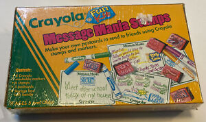 Vintage 1994 Crayola Message Mania Stamps With Postcards And Markers Sealed