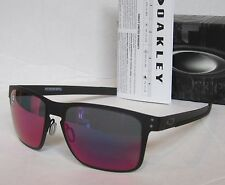 OAKLEY matte black/ positive red iridium HOLBROOK METAL OO4123-0255 sunglasses!