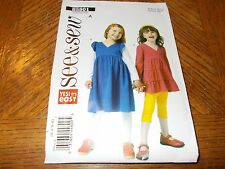 Butterick Pattern B5801 Toddler Girls EZ SEE & SEW Tiered Top & Dress Sz 3 - 6