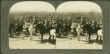 A Bristling Forest of Bayonets, Russian Troops on Review - WW1 Stereoview