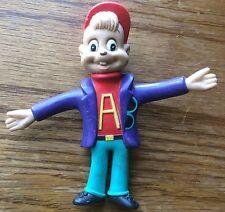 """Alvin und die Chipmunks Spielzeug 1991 Gummi Flexible Alvin 4.5"""" Handel gekennzeichnet."""
