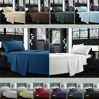 Hotel Luxury 1800 Count 4 Piece Deep Pocket Bed Sheet Set King Queen Size R1