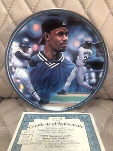 "Ken Griffey Jr 1997 Authentic Limited Edition 8"" Autographed Baseball Plate"