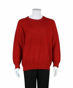 N. PEAL Red Cashmere Knit Jumper, Size M