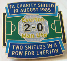 EVERTON v MANCHESTER UNITED Victory Pins CHARITY SHIELD Badge Maker Danbury Mint