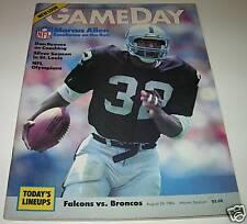 1984 DENVER BRONCOS vs ATLANTA FALCONS NFL PROGRAM JOHN ELWAY MARCUS ALLEN