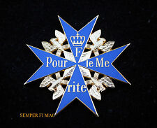 XL BLUE MAX Pour le Mérite World War 1 German Medal AIR FORCE PIN UP RED BARRON