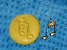 Music Note Charm Silicone Push Mold #402 For Jewerly Craft Candy