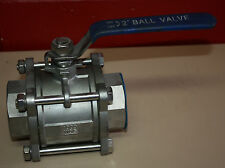 "2"" inch 50mm  3 piece  stainless steel ball valve NEW"