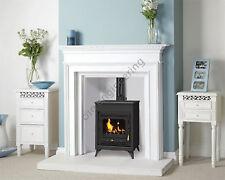 Wood Burning Stove 15 kW Fireplace Log Burner Woodburning Multi Fuel Cast Iron D
