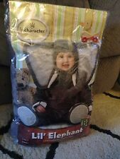 Incharacter Lil Elephant Infant Costume Size 0-6 Months Halloween Costume NWT