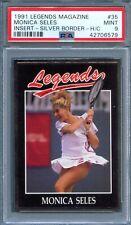 1991 Legends Magazine Insert Silver #35 MONICA SELES Tennis PSA 9 MINT Pop 2