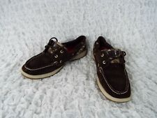 SPERRY TOP SIDER Angelfish Brown Leopard Print Leather Boat Shoes Womens 9 M