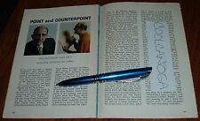 1963 TV ARTICLE~FRANK DEVOL~ACTOR & MUSICIAN~EMERSON GILLS ORCHESTRA CLEVELAND