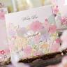 Hollow Laser Cut Wedding Flower Cards Invitations Party Invitation Flower Invite