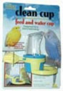 JW Pet Company Clean Cup Feeder and Water Small Cup Bird Accessory