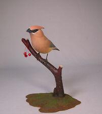 Cedar Waxwing Original Bird Carvings/Birdhug