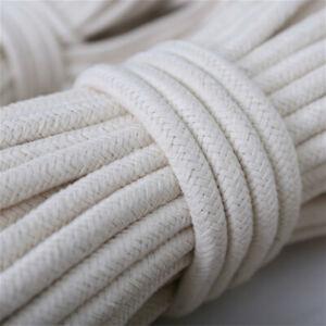 10M Coton Corde Ficelle Lavage Vêtements Poulie Macramé DIY 4-10mm