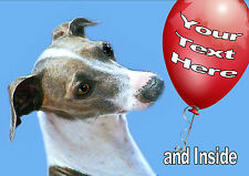 PERSONALISED ITALIAN GREYHOUND DOG BIRTHDAY FATHERS DAY ANY OCCASION CARD Insert