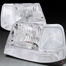 Euro Chrome 98-00 Ford Ranger Crystal Clear Head Lights Corner Bumper Lamps