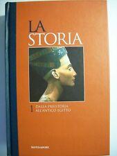 LA STORIA 1 DALLA PREISTORIA ALL'ANTICO EGITTO - MONDADORI  (bb1)