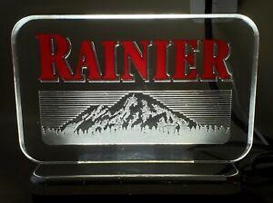 RAINIER BEER ELECTRIC ACRYLIC SIGN