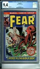FEAR #9 CGC 9.4 WP RARE in HIGH GRADE marquee cover MARVEL COMICS 1972