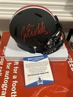 JUSTIN FIELDS OHIO STATE BUCKEYES SIGNED Mini helmet Eclipse Beckett