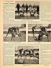 LE HOCKEY A ECHASSES ARTICLE PRESSE DE MARCEL VIOLLETTE 1901