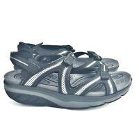 MBT LILA Sport Sandals 9-9.5M Womens Black & Gray Strappy Shoes Nylon