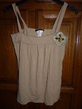 MORGAN Haut beige T-shirt pierreries taille 1 36 bretelles larges blouse top