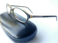 Gucci black and Amber oval eyeglass frames 48()17 125
