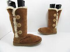 Women's Ugg Australia Bailey Button Triplet Winter Boots 1873 Chestnut Size 5 M