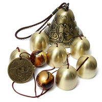 Wind Chimes Metal Copper 6 Bells Outdoor Garden Yard Home Hanging Ornament