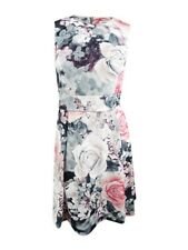 Calvin Klein Women's Plus Size Floral-Print Fit and Flare Dress