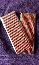 TIA MARIA BLACK AND RED STRAWS pack of 25. NEW!
