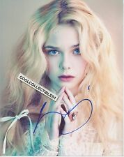 "ELLE FANNING IN PERSON SIGNED 8X10 COLOR PHOTO 1 ""PROOF"""