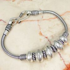 Designer & 925 Silver Handmade Fashionable Bracelet 190mm DD8-1541& giftbox