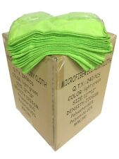 """240 Case 12""""x12"""" Economy Grade Microfiber Cleaning Cloths/Auto 220GSM Green"""