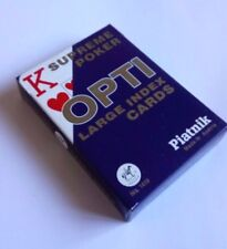 OPTI SUPREME POKER LARGE INDEX PLAYING CARDS PIATNIK NEW FREE P&P