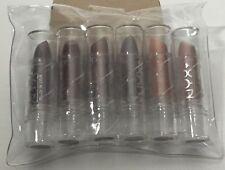 6 PACK LOT SET NYX Lipstick Color INDIAN PINK, TOPAZ, BLACK CHERRY New Sealed