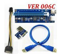 PCI-E PCI Express PCIE 1x To 16x Adapter GPU Riser Card USB 3.0 Extension