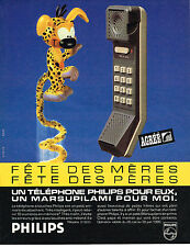 PUBLICITE ADVERTISING 025  1985  PHILIPS   téléphone MARSUPILAMI