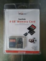 SanDisk microSDHC 8GB Class 2 Card with SD Adapter (SDSDQ-8192) - New In Box