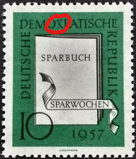 DDR Plattenfehler postfr. nach Schrage (ArGe, DDR Spezial) 598 PF I laut Scan's