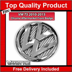 FOR VW TRANSPORTER T5 CHROME FRONT RADIATOR GRILLE BADGE 2010-15 T5.1 NOT BLACK